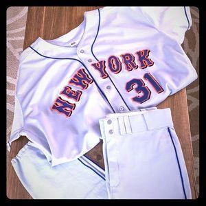 Authentic Grey Mets Piazza Uniform